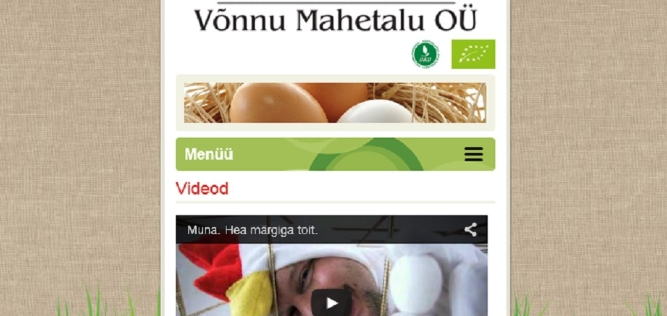 Võnnu mahetalu company website
