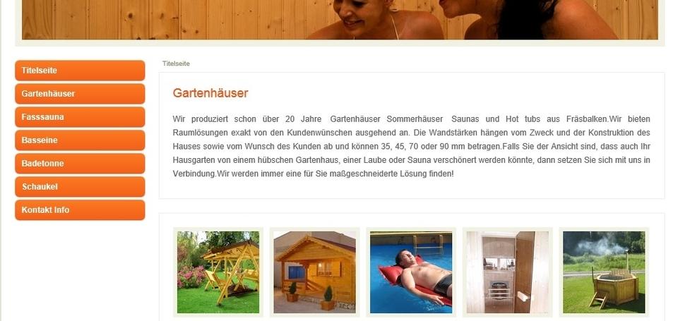Naturstammhaus firma kodulehekülg